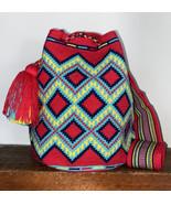 Authentic 100% Wayuu Mochila Colombian Bag Large Size summertime Single ... - $139.00