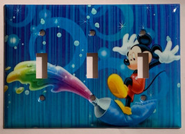 Mickey Mouse Color Painting Light Switch Outlet wall Cover Plate Home Decor image 3