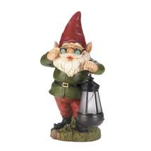 Solar Figurines, Gnome Lantern Keeper Garden Yard Small Lawn Solar Statu... - $49.49