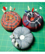 Quilting Sewing Pincushions Handmade +Decorative Pins Your Choice of 4 D... - $6.99
