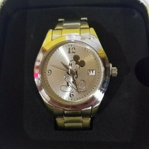 Disney  Vintage Mickey silver and gold Watch with date Shanghai Resort- New - $123.74