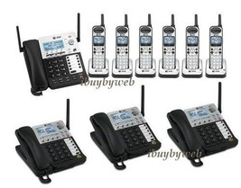 AT&T SB67138 DECT 6.0 4 Line 4 Corded & 6 Cordless Business Phones Music On Hold - $1,271.55