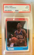 DENNIS RODMAN 1988 FLEER ROOKIE PISTONS RC CARD PSA MINT 9! - $69.29