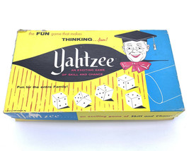 Vintage Yahtzee 1956 Board Game E. S. Lowe Company Set No.950 - $16.81
