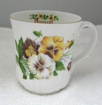 Duchess England Bone China August Pansy Coffee Mug 3 1/4 Inches NICE! - $29.69