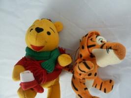 "Disney Winnie the Pooh & Tigger Plush Christmas Ornaments  4"" & 3"" - $9.89"