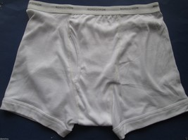 NORDSTROM 2Pack Signature Waistband Supima Cotton Men Trunk Boxer White ... - $12.91
