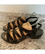 DANSKO Dani black shimmer  Lizard Women's Sandals Strappy Ankle Strap 41 - $49.45