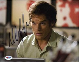 Michael C Hall 'Dexter' Signed 8x10 Photo Authentic Certified Authentic PSA/DNA  - $158.39