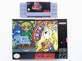 Legend of Zelda Goddess of Wisdom + Custom Case - Super Nintendo SNES US... - $25.99+