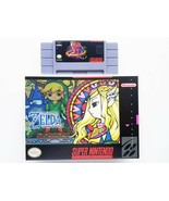 Legend of Zelda Goddess of Wisdom + Custom Case - Super Nintendo SNES US... - $25.10+