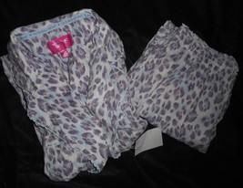 2 Piece Victoria's Secret Purple & White Leopard Animal Print Pajamas Soft Xs - $24.31