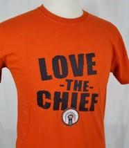 "Illinois Fighting Illini ""Love the Chief"" Illiniwek Logo T-Shirt Sz M Or... - $16.44"