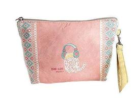 Creative Pink Cartoon Canvas Cosmetic Bags/Purse