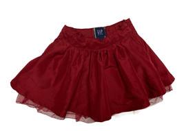 Gap los Niños Pequeños Niña A Línea Forrado Falda de Fiesta Burdeos Talla 4 - $8.58