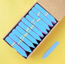 """100 Blue Plastic Plant Stakes Labels Nursery Tags - Made in USA - 4"""" X 5/8"""" - $12.38"""