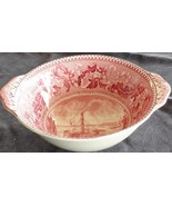 Antique Pink Historic America Lugged Fruit/Dessert Bowl - Johnson Bros. ... - $39.59