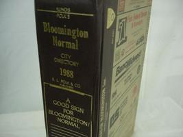 1988 Polk's City Business Directory Bloomington Normal Illinois Advertising - $27.71