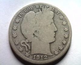 1912 Barber Half Dollar Good G Nice Original Coin From Bobs Coins Fast Shipment - $22.00