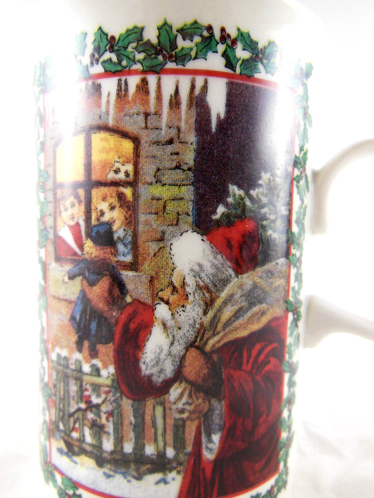Dunoon fine Stoneware  Mug Cup Merry Christmas Santa Made in England