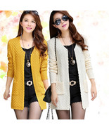 Women Sweater Long Cardigan 2015 Fashion Summer Style Long Sleeve Thin K... - $23.33+