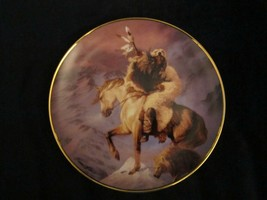 SPIRIT OF THE NORTH WIND collector plate HERMON ADAMS Native WESTERN HER... - $9.99
