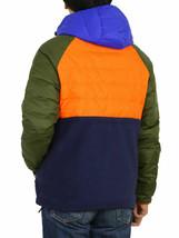 Polo Ralph Lauren Puffer Down Fleece Jacket Coat Orange/Olive/Blue MENS M OR L - $168.29