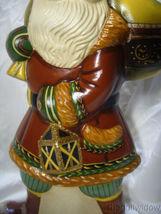 Vaillancourt Folk Art  Hiking Santa with Traditional Fur Trimmed Coat Signed image 6