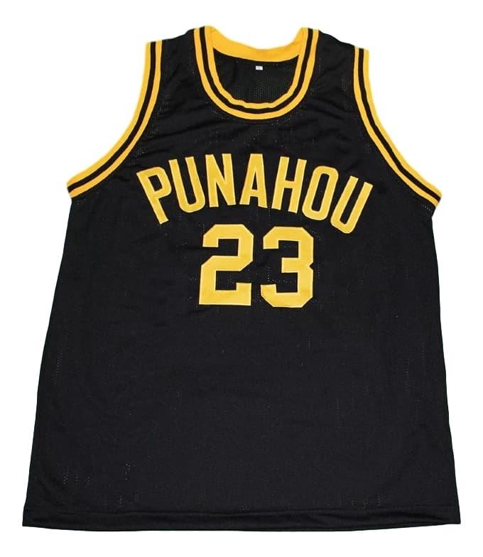 Barack Obama #23 Punahou High School New Men Basketball Jersey Black Any Size