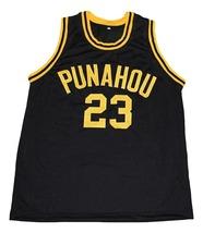 Barack Obama #23 Punahou High School New Men Basketball Jersey Black Any Size image 1