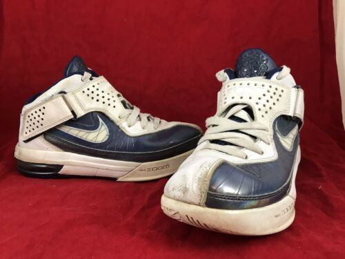 best service 22456 3ee1b 12. 12. Previous. Womens NIKE LEBRON SOLDIER V 5 White Navy Blue Shoes  454149-104 SIZE 7 (