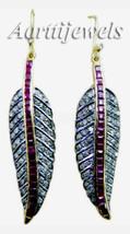 Victorian 2.70ct Rose Cut Diamond Ruby Wedding Womens Earrings Thanks Gi... - $718.74