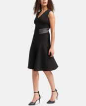 DKNY Women's Black Sleeveless Knee Length Fit & Flare Dress Color Black ... - $49.99