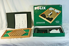 Bolix Board Game Cadaco Solid Wood Board Glass Marbles Just Two Rules  - $54.99