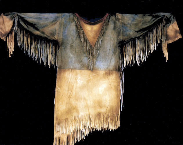 Men Handmade Native American Mountain Man Leather Fringed Rendezvous Shirt FJ140 image 5