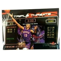 Vince Carter 2000-01 Fleer Triple Crown Triple Threats Insert Card #1 Ra... - $2.92