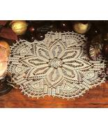 Y196 Crochet PATTERN ONLY Winter Lace Doily Pat... - $7.45