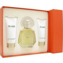 Carolina Herrera Flore 3.4 Oz Eau De Parfum Spray 3 Pcs Gift Set  image 1