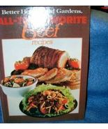 Better Homes and Gardens All Time Favorite Beef Recipes  - $4.50