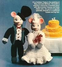 Y223 Crochet PATTERN ONLY Bride & Groom Mouse Dolls Pattern - $7.50