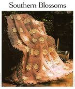 Y239 Crochet PATTERN ONLY Southern Flower Blossoms Granny Square Afghan ... - $9.50