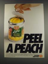 1991 Del Monte Lite Sliced Peaches Ad - Peel a Peach - $14.99