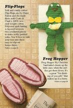 Y285 Crochet PATTERN ONLY Frog Tissue Doll & Flop-Flops Patterns - $7.50