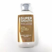 Bath & Body Works Warm Vanilla Sugar Super Smooth Body Lotion 24 Hr Mois... - $7.91