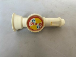 Vintage fisher Price Musical Instrument part crazy horn combo white logo - $11.20