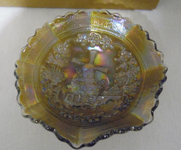 """Imperial Carnival Glass Windmill  6"""" Collar Bowl Clambroth - $26.93"""