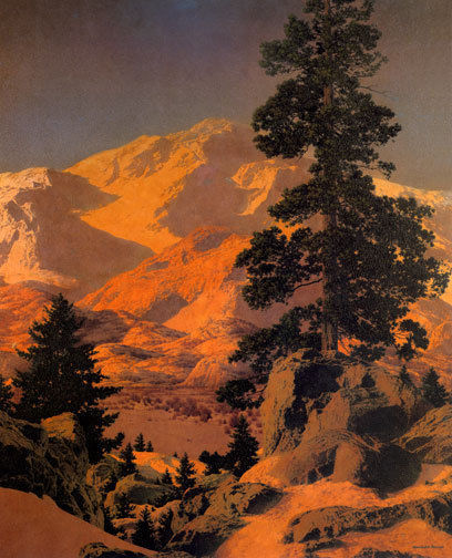 New Hampshire Winter 22x30 Hand Numbered Edition Maxfield Parrish Art Deco
