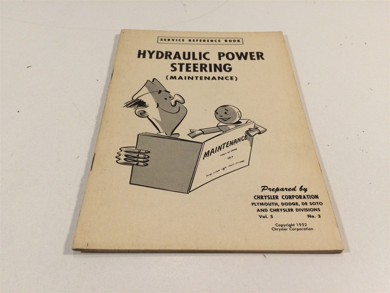 1952 Chrysler Corporation Service Reference Book V5 No3 Hydraulic Power Steering