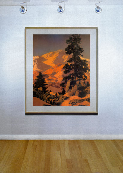 New Hampshire Winter 22x30 Hand Numbered Edition Maxfield Parrish Art Deco image 2