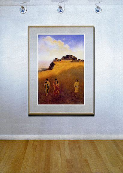 Pueblo Dwellings 22x30 Hand Numbered Edition Maxfield Parrish Art Deco Print image 2